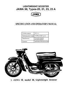 Jawa 50 Types 20 21 23 23a Specification and Operators Manual